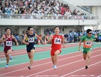 福井国体、山県亮太9秒台届かず