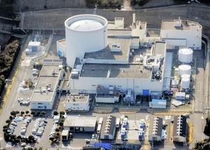 廃炉作業中の新型転換炉ふげん=2018年1月、福井県敦賀市