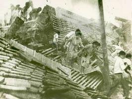 1948年6月28日に発生した福井地震当時 の様子。(福井新聞記事より転載)