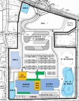 新たな道の駅「結の故郷(仮称)」の施設配置イメージ図(福井県大野市提供)