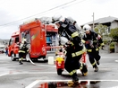 本番さながら敦賀で消火技術錬成会