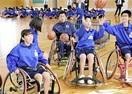 車椅子バスケに生徒熱中