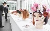 ヘアメーク 個性キラリ 県理容美容専門学校 アオッサで卒業展