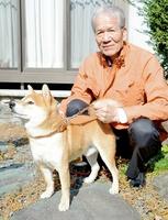 最優秀犬を5回獲得した渡辺さんの「豆助」=福井県敦賀市