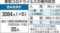 県内新たに5人感染 10、11日の新型コロナ