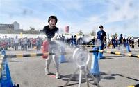 初期消火技術172チーム競う 坂井で自衛操法大会