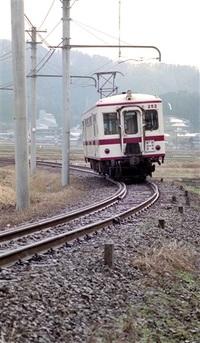平成4(1992)年2月 京福電鉄永平寺線 廃線跡 未来へ「レール」 写真が語るふくい平成今昔(3)