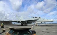 米空母艦載機が那覇沖で墜落