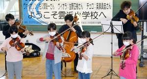 バイオリン、児童がプロと…