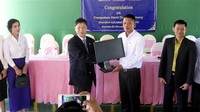 カンボジア教育 一助に 鯖江LC 職業学校へPC寄贈