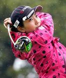女子ゴルフ、笠が67で首位