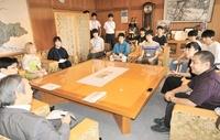 竹田Tキャンプ学生が市長に抱負