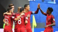 サッカー、ポルトガルなど4強