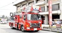 大火記念日に防火パレード 大野市消防