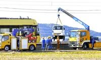 えち鉄電車と軽トラ衝突、男性死亡