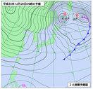 福井県内、広範囲で積雪の予想