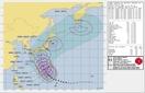 台風19号接近、米軍の進路予想は