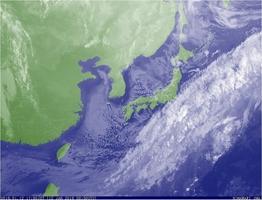 12日午後5時50分の雲画像(気象庁HPより)