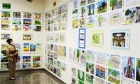 あわらの魅力を 児童図画で表現 金津創作の森で展示