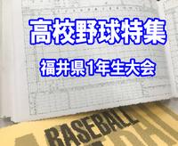高校野球1年生大会、敦賀気比優勝