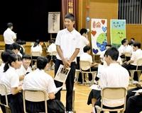 心に残った記事「熱弁」 学校祭 表現、考える力競う 勝山北部中 みんなの新聞NIE