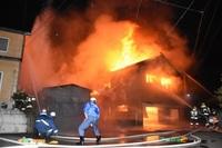 鯖江で8棟燃える火事、1人死亡