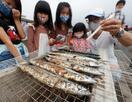 不漁で1カ月遅れのさんま祭り