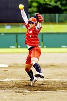 昨年優勝チームのビックカメラ高崎に所属する上野由岐子投手=2日