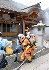 敦賀 神職、巫女も訓練