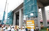 工期短縮へ 工法 積み木 福井開発高架橋 鉄道建設で初 つながる北陸新幹線