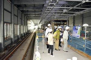 建設中の北陸新幹線福井駅…
