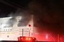 福井県福井市の工場で火事、未明出火