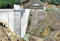 河内川ダムで試験湛水 若狭町 本体工事ほぼ完了