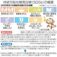 17分野、先進国も推進 貧困撲滅、環境保護図る もの知りキーワード