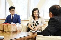 台湾幹部とハス観光で意見交換