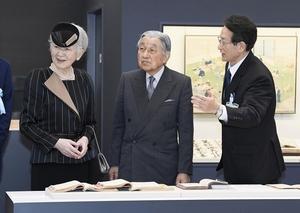 福井県教育博物館を訪問された天皇、皇后両陛下=9月28日午後、福井県坂井市