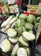 暖冬で野菜4〜35%値下がり
