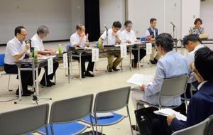 福岡市で防災対策の専門家が開いたシンポジウム=28日午後
