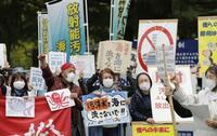 市民団体、福島県庁前で抗議