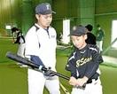 小中生にスイング指導 福井工大野球部が教室