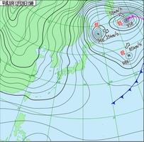 12月28日午後3時現在の天気図(気象庁HPより)