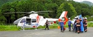 福井県が共同運航を始める滋賀県のドクターヘリ(滋賀県提供)