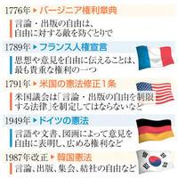 表現の自由、各国も規定 「制限するのは専制政府」 憲法知って考えよう(111)