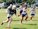 小学生ラガー300人、美浜で熱戦