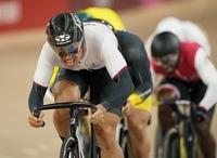脇本雄太、男子ケイリン準決勝進出 東京五輪自転車、準々決勝3組1着