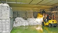 ソバの実やコメ保存 雪室雪もっと 勝山の倉庫 量例年の半分 市追加を検討