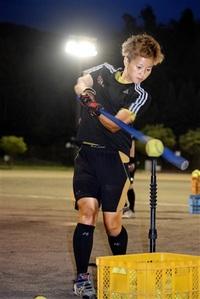 ソフトボール成年女子 林聖恵(県スポ協) 攻守の要 チームを鼓舞 チームふくい新戦力