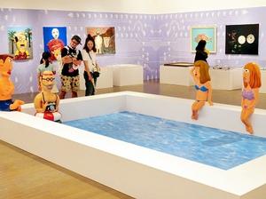 """ユニークな""""たけしワールド""""が広がる「アートたけし展」=金沢市の金沢21世紀美術館"""