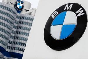 ドイツ自動車大手BMWの本社=21日、ミュンヘン(AP=共同)