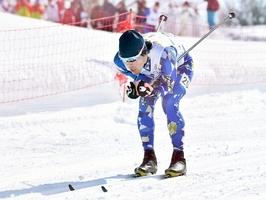 スキー距離の成年男子Aで4位に入った宇田崇二=新潟県の赤倉観光リゾートクロスカントリーコース
